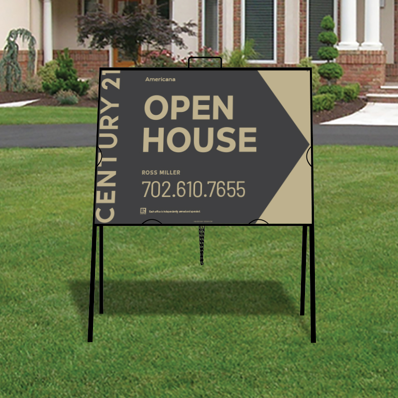 Century 21 Americana Open House & Directional Signs-A218_STD_213