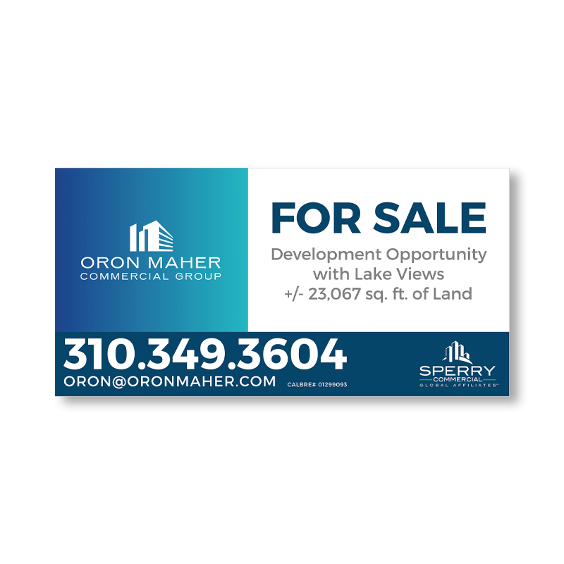 California Independent Real Estate Commercial / Construction Signs-CA_COMMERCIAL_208