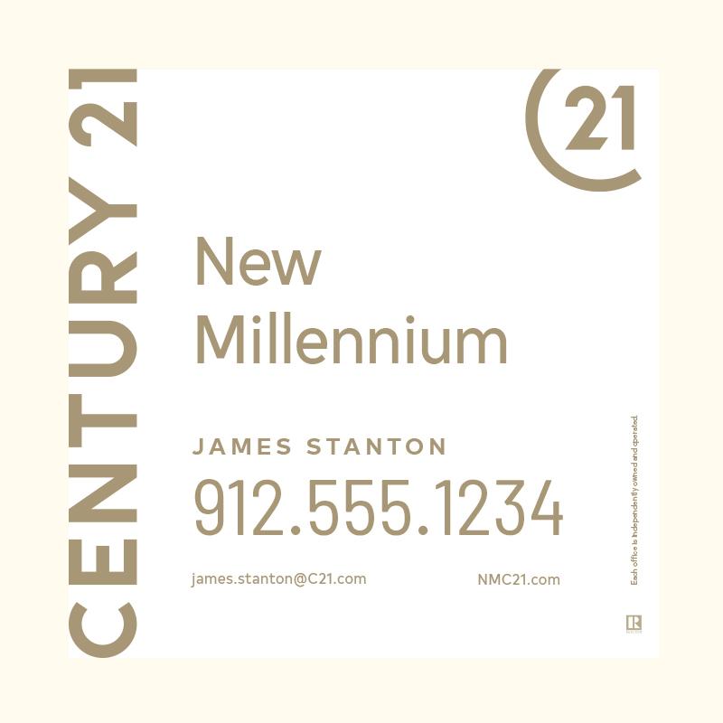 Century 21® Hanging Sign Panels-24X24RA_DES1W_200