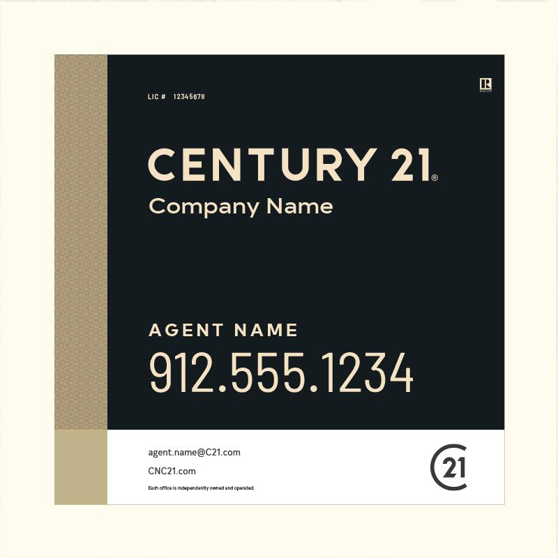 Century 21® Hanging Sign Panels-24X24RA_DES3BHC_200