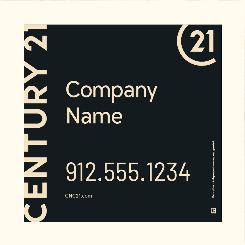 Century 21® Hanging Sign Panels-24X24RO_DES1BHC_200