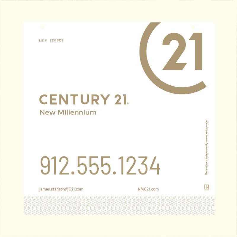 Century 21® Hanging Sign Panels-24X24RO_DES2WP_200