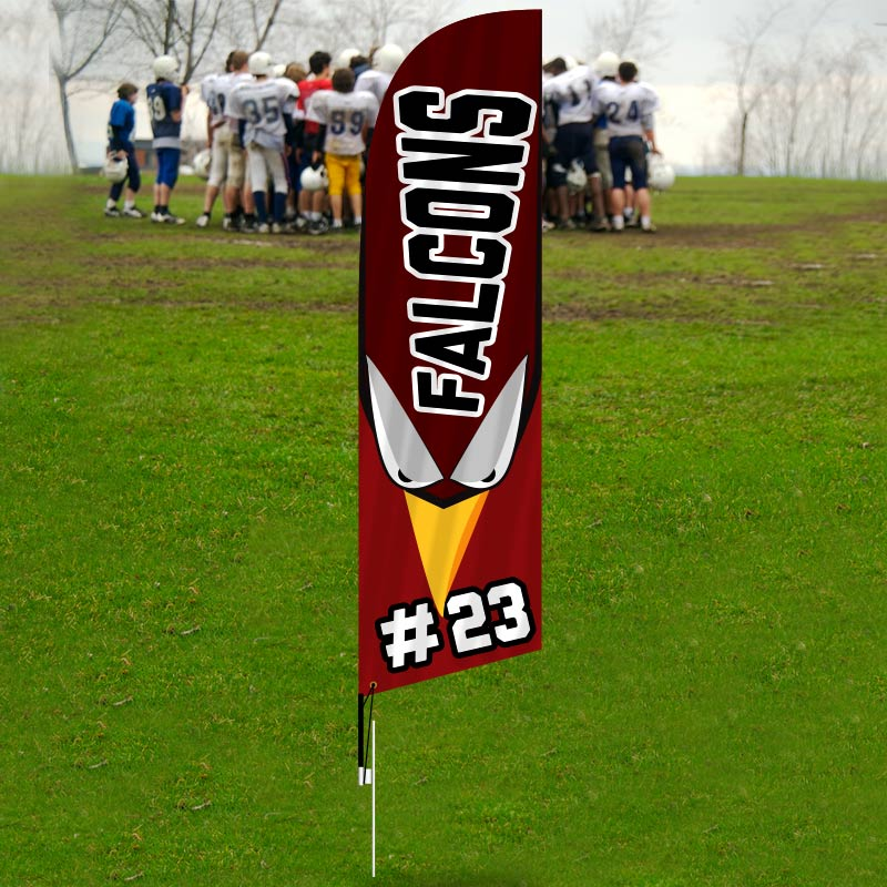 Customized Retail Feather Flags Sports - Feather Flags-CFE01_186