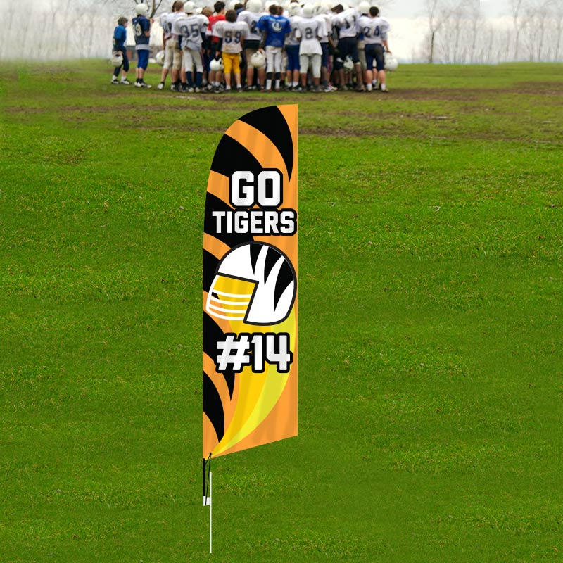 Customized Retail Feather Flags Sports - Feather Flags-CFS01_186