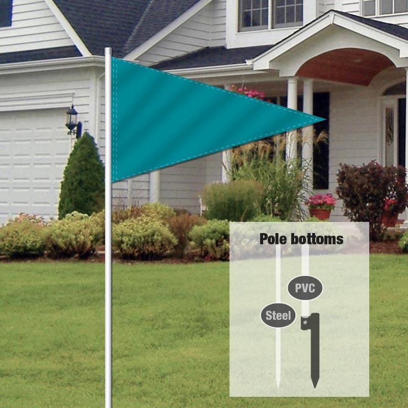 Independent Real Estate Pennant Flag-TEAL0001_FLG_7